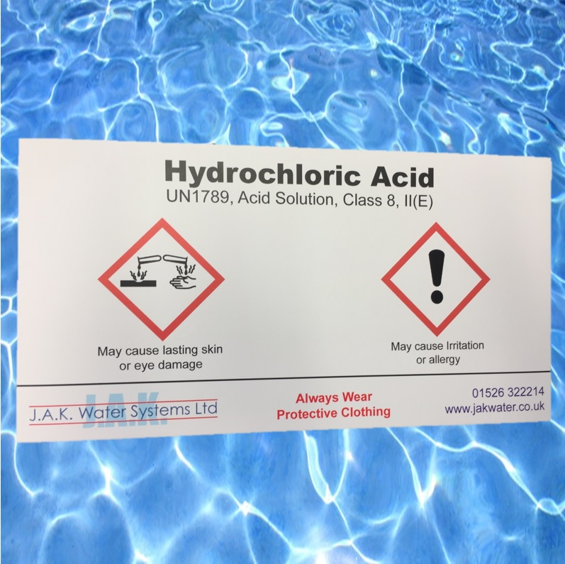 Hydrochloric Acid Label Jak Water